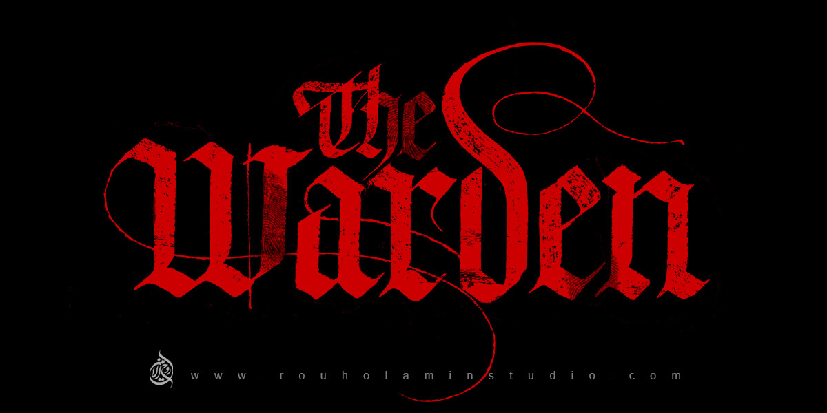 The Warden English Logo Design